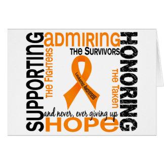 Admiración favorable honrando la leucemia 9 tarjeta de felicitación