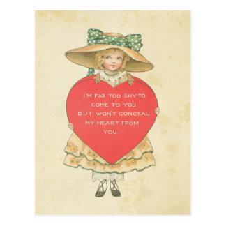 Admirador rojo del secreto del corazón del el día  tarjeta postal