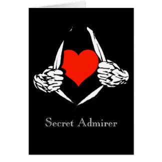 Admirador secreto tarjeta