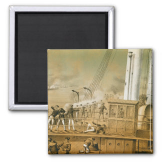 Admiral Amedee Anatole Courbet 2 Inch Square Magnet