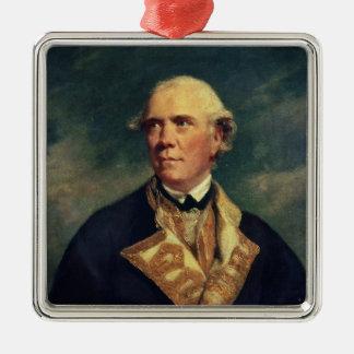 Admiral Barrington  1779 Metal Ornament