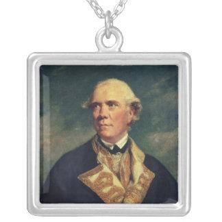 Admiral Barrington  1779 Square Pendant Necklace