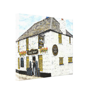 'Admiral Benbow Inn' Stretched Canvas Print