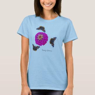 Admiral Butterfly Pink Zinnia T-Shirt