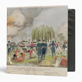 Admiral Cockburn burning and plundering Vinyl Binders