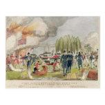 Admiral Cockburn burning and plundering Postcard