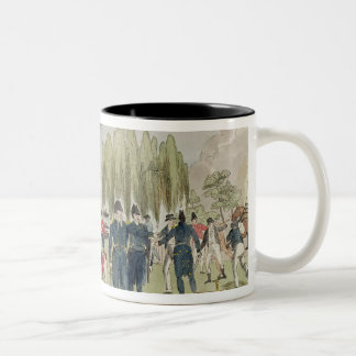 Admiral Cockburn burning and plundering Two-Tone Coffee Mug