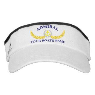 Admiral custom boat name anchor motif visor