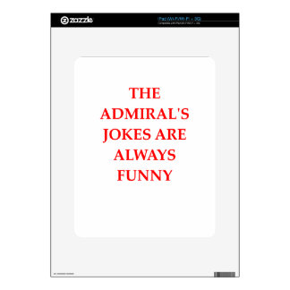 admiral decal for the iPad