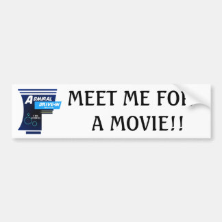 Admiral Drive-In Theater Logo Bumper Sticker