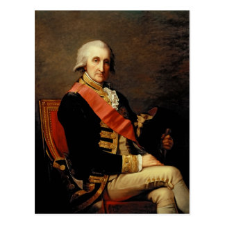 Admiral George Brydges Rodney  1791 Postcard