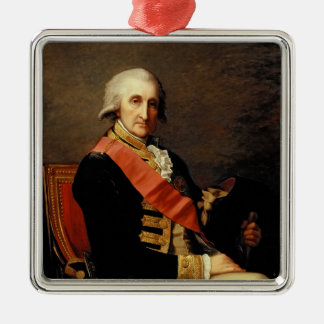 Admiral George Brydges Rodney  1791 Square Metal Christmas Ornament