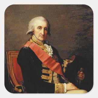 Admiral George Brydges Rodney  1791 Square Sticker