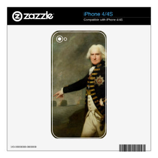 Admiral Lord Bridport (1727-1814) c.1795 (oil on c Skins For iPhone 4S