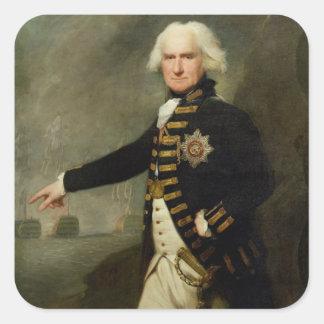 Admiral Lord Bridport (1727-1814) c.1795 (oil on c Square Sticker