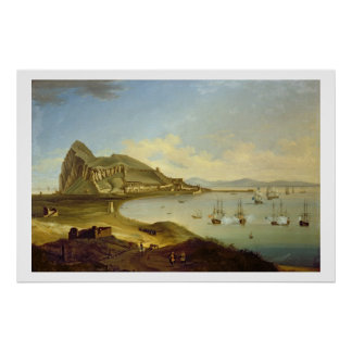 Admiral of the Blue Squadron Arriving at Gibraltar Poster