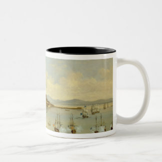 Admiral of the Blue Squadron Arriving at Gibraltar Two-Tone Coffee Mug