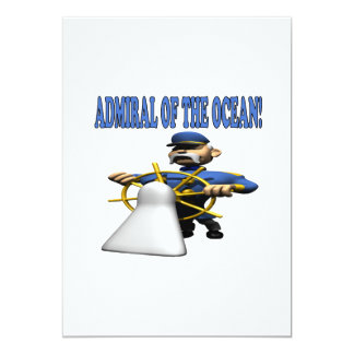 Admiral Of The Ocean 5x7 Paper Invitation Card