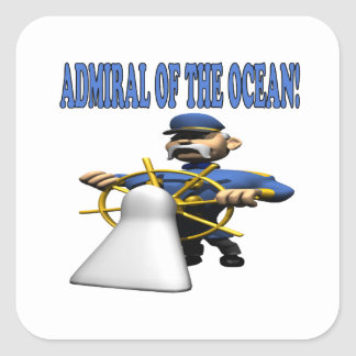 Admiral Of The Ocean Square Sticker