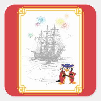 Admiral Penguin Sticker