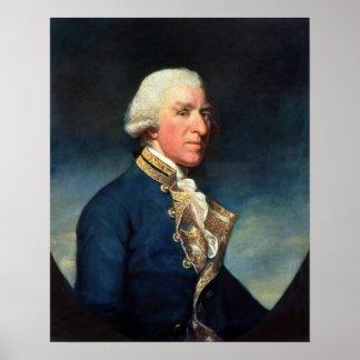 Admiral Samuel Hood, 1st Viscount Hood  1784 Poster