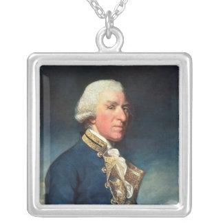 Admiral Samuel Hood, 1st Viscount Hood  1784 Square Pendant Necklace