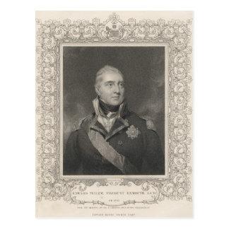 Admiral Sir Edward Pellew, c.1810 Postcard
