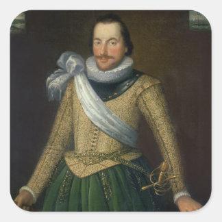Admiral Sir Thomas Button (d.1694) Square Sticker