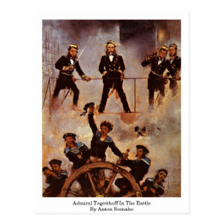 Admiral Tegetthoff In The Battle By Anton Romako Postcard