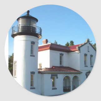 Admiralty Head Lighthouse Classic Round Sticker