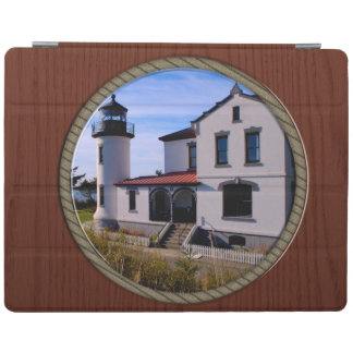 Admiralty Head Lighthouse Rope and Wood border iPad Smart Cover
