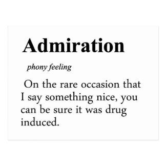 Admiration Definition Postcard