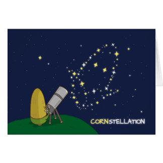 Admire el maíz endeble lindo de la constelación de tarjeta de felicitación