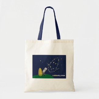 Admire the Stars Constellation Cute Puny Corn Budget Tote Bag