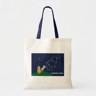 Admire the Stars Constellation Cute Puny Corn Tote Bag