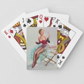 Admiring Miss Sylvania Pin Up Art Playing Cards