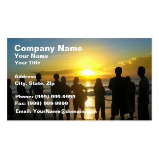 Admiring the Sunset Double-Sided Standard Business Cards (Pack Of 100)