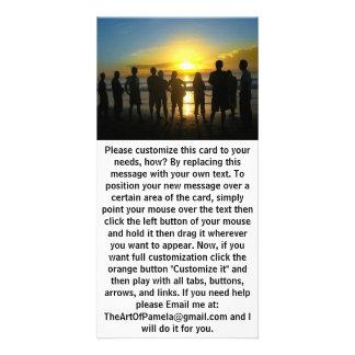 Admiring the Sunset Photo Card