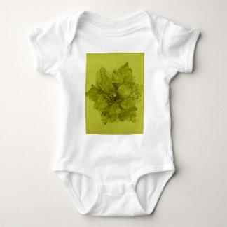 Admiro Kaki Flower Design Baby Bodysuit