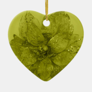 Admiro Kaki Flower Design Ceramic Ornament