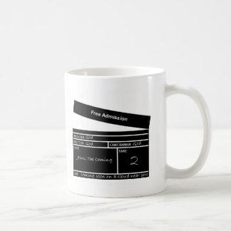 admisión libre taza de café