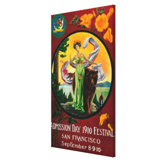 Admission Day Advertisment, State Festival 2 Canvas Print