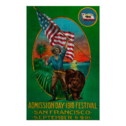 Admission Day Advertisment, State Festival 2 Poster