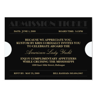Admission Ticket 5x7 Invitations