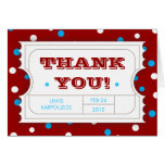Admission Ticket Carnival Color Thank You Card