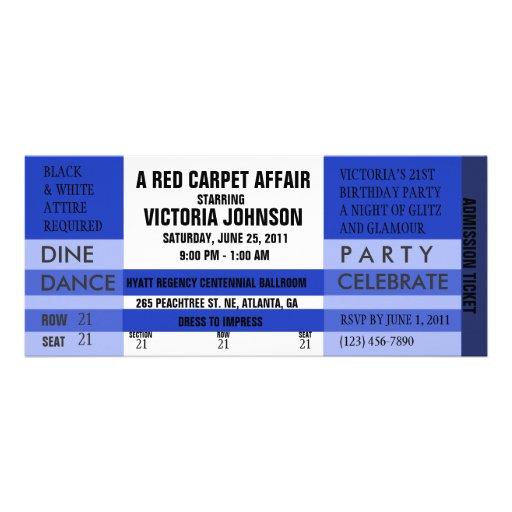 Admission Ticket Invite [Blue]