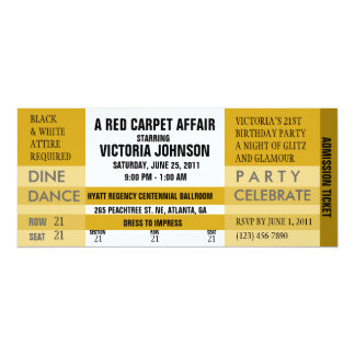 Admission Ticket Invite [Gold]