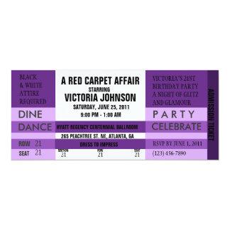 Admission Ticket Invite [Purple]