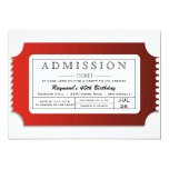 Admission Ticket to Party Invitations
