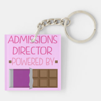 Admissions Director Chocolate Gift for Woman Double-Sided Square Acrylic Keychain